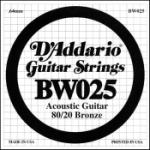 Daddario .025 Bronze Wound Guitar String