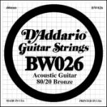 Daddario .026 Bronze Wound Guitar String