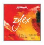 D'Addario Zyex Violin String set, 4/4 Violin Medium Tension, Silver D