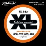 D'Addario ECB82 Chromes Heavy Gauge Flatwound Long Scale Bass Strings