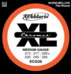 D'Addario XL Chromes - Flat Wound Steel, 13 - 56 Medium