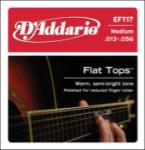 D'Addario  DAddario EFT17 Flat Tops Phosphor Bronze Acoustic Guitar Strings, 13-56