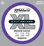 D'Addario XL Half Rounds - Semi Flat Wound Steel, 11 - 49 Medium
