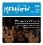 D'addario  Light Phoshor Bronze (12-53) Light Gauge EJ16