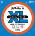 D'Addario EJ20 XL Jazz Extra Light 10-49 Wound Third