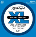 DADDARIO EJ21 Nickel Wound Electric Guitar Strings, Jazz Light, 12-52