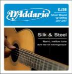 D'Addario EJ35 Silk & Steel 12-String Folk Guitar Strings, 11-47
