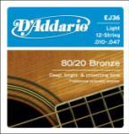 D'Addario EJ36 SET ACOU GTR 80/20 LITE 12STR