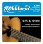 D'Addario EJ40 Silk and Steel Acoustic Guitar Strings, 11-47