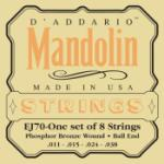 D'Addario EJ70 Phosphor Bronze Mandolin Strings, Medium/Light (Ball End)