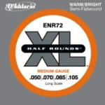 D'Addario XL Half-Rounds - Semi Flat Wound Nickel, Long Scale, 50 - 105 Medium