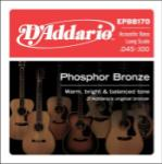 D'Addario EPBB170 Phosphor Bronze Long Scale Acoustic Bass Strings 45-100
