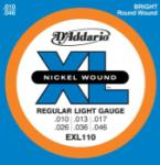 D'Addario EXL110 Nickel Wound Electric Guitar Strings, Regular Light