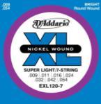 String--guitar  D'addario Xl120-7