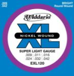 D'Addario EXL120 Nickel Wound Electric Guitar Strings, Super Light