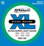 DADDARIO EXL130 Nickel Wound Electric Guitar Strings, Xtra Sup Lt, 8-38