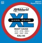 DADDARIO EXL145 Nickel Wound El Guitar Strings, Heavy, 12-54, Plain 3rd