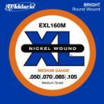 D'Addario EXL160M XL Medium Scale Electric Bass Guitar String Set 50-105
