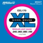 D'Addario EXL170 Nickel Wound 4-string Bass Guitar Strings, Light, Long Scale