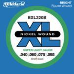 D'Addario XL - Nickel Wound, Short Scale, 40 - 95 Super Light