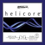 D'Addario D'Addario Helicore Violin Single A String, 4/4 Scale, Light Tension