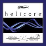 D'Addario D'Addario Helicore Violin Single D String, 1/2 Scale, Medium Tension