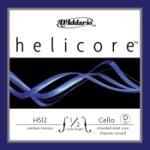 Helicore Cello Single D String, 1/2 Scale, Medium Tension