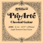 D'Addario J4301 Pro-Arte Nylon Classical Guitar Single String, Light Tension, First String