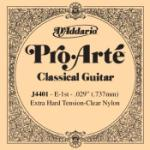 D'Addario J4401 Pro-Arte Nylon Classical Guitar Single String, Extra-Hard Tension, First String