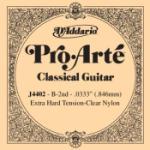 D'Addario J4402 Pro-Arte Nylon Classical Guitar Single String, Extra-Hard Tension, Second String