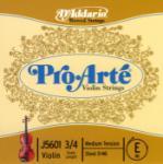 D'Addario D'Addario Pro-Arte Violin Single E String, 3/4 Scale, Medium Tension