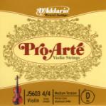 D'Addario  4/4 Violin D String Pro Arte J5603 4/4M