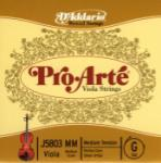 D'Addario Pro-Arte Viola Single G String, Medium Scale, Medium Tension