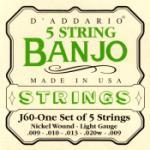 Daddario   EJ60  Banjo Strings