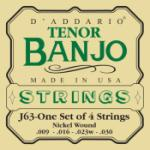 D'Addario Tenor Banjo Strings, Nickel, 9-30
