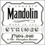 D'Addario J7404 Phosphor Bronze Mandolin Single String, Fourth String, .040