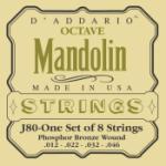 D'Addario EJ80 SET OCTAVE MANDOLIN PB MED