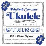 D'Addario J92 Concert Uke Pro Arte Strings