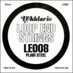 D'Addario LE008 Plain Steel Loop End Single String, .008