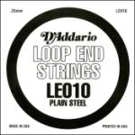 D'Addario LE010 Plain Steel Loop End Single String, .010