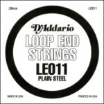 D'Addario LE011 Plain Steel Loop End Single String, .011