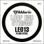 D'Addario LE013 Plain Steel Loop End Single String, .013