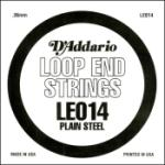 D'Addario LE014 Plain Steel Loop End Single .014