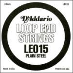 D'Addario LE015 Plain Steel Loop End Single String, .015