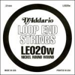D'Addario LE020W Nickel Wound Loop End Single String, .020