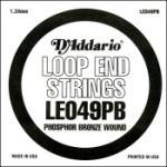 D'Addario LE049PB Phosphor Bronze Loop End Single String, .049