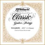 D'Addario NYL052W Silver-plated Copper Classical Single String, .052