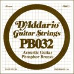 D'Addario .032 Phosphor Bronze Guitar String