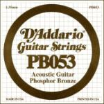 D'Addario PB053 Phosphor Bronze Wound Acoustic Guitar Single String, .053
