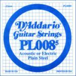 D'Addario PL0085 Plain Steel Guitar Single String, .0085